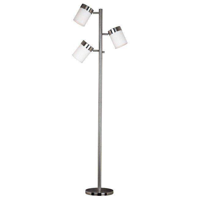 Roarke Floor Lamp (Brushed Steel)