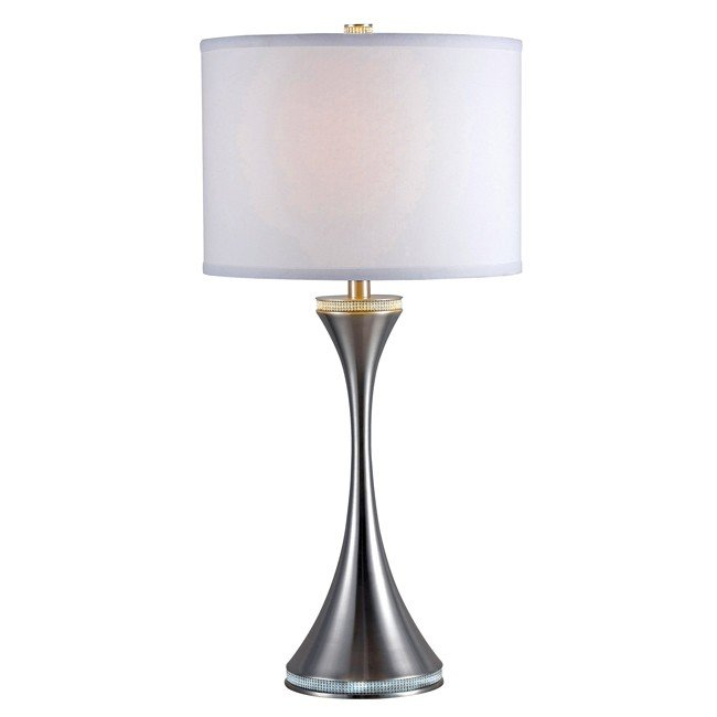 Rhinestone Table Lamp (Brushed Steel)