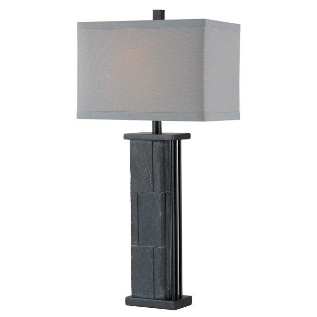 Manuever Table Lamp (Natural Grey Slate)