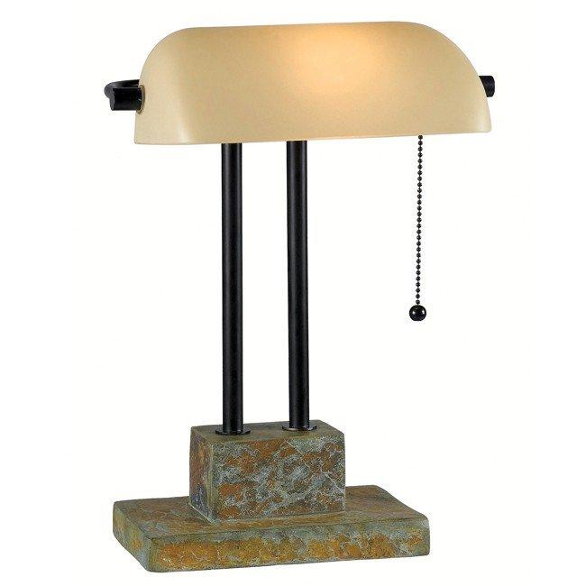 Greenville Banker Lamp (Natural Slate)