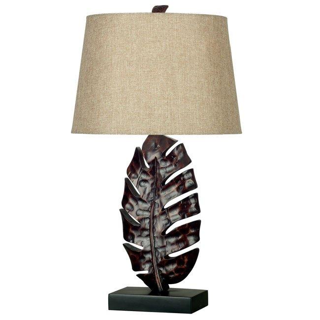 Frond Table Lamp (Mottled Bronze)