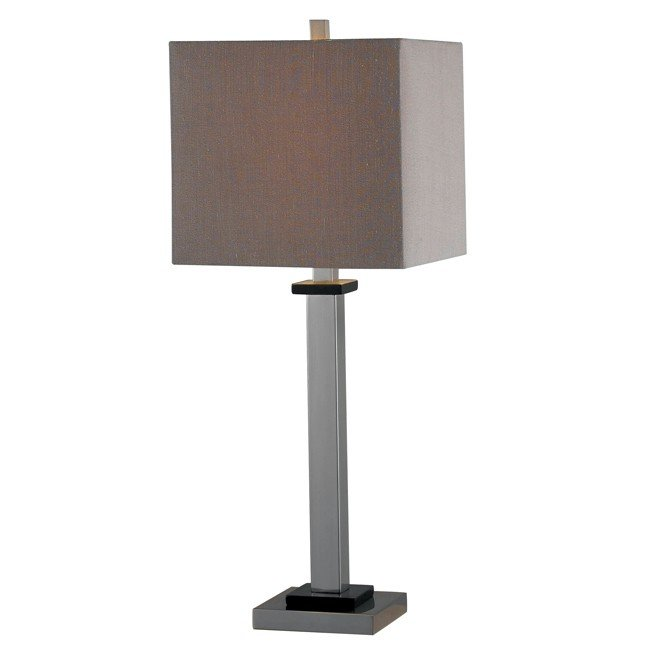 Turret Table Lamp (Brushed Steel)