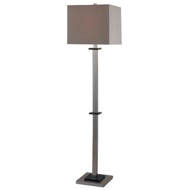 Turret Floor Lamp (Brushed Steel)