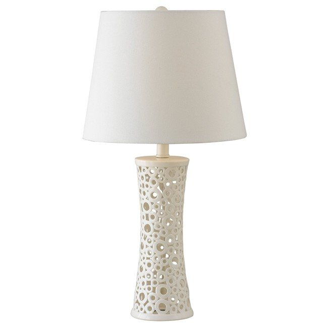 Glover Table Lamp (Gloss White Ceramic)