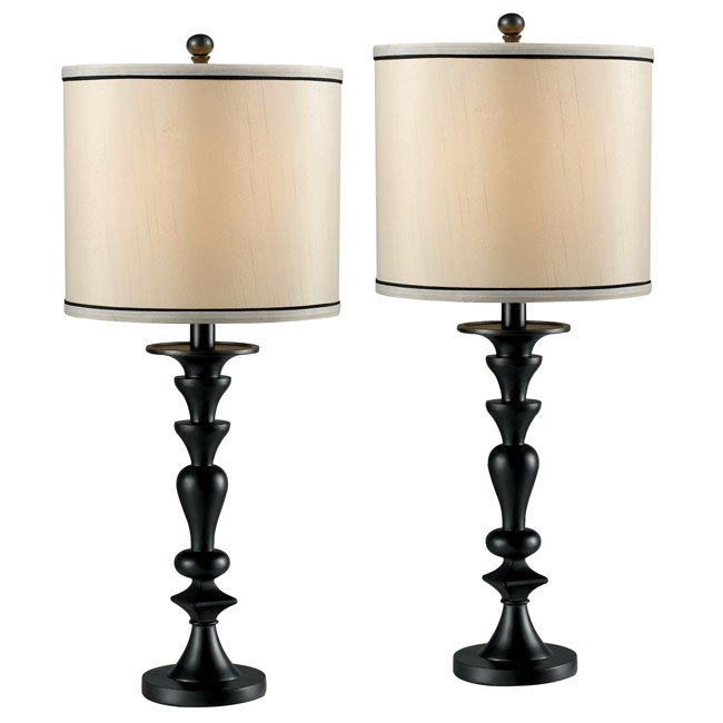 Bobbin 2-Pack Table Lamp (Dark Graphite)