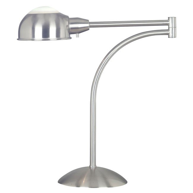 Acadia Swing Arm Table Lamp (Brushed Steel)