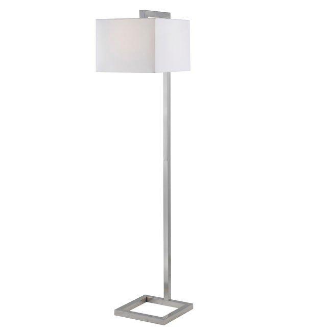 4 Square Floor Lamp (Brushed Steel)