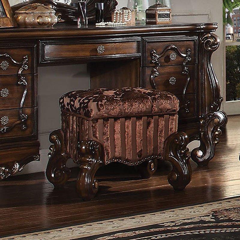 Versailles Vanity Stool Cherry Oak Acme Furniture 1