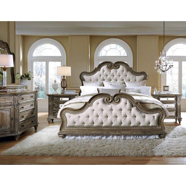 Accentrics Home Arabella Upholstered Bedroom Set