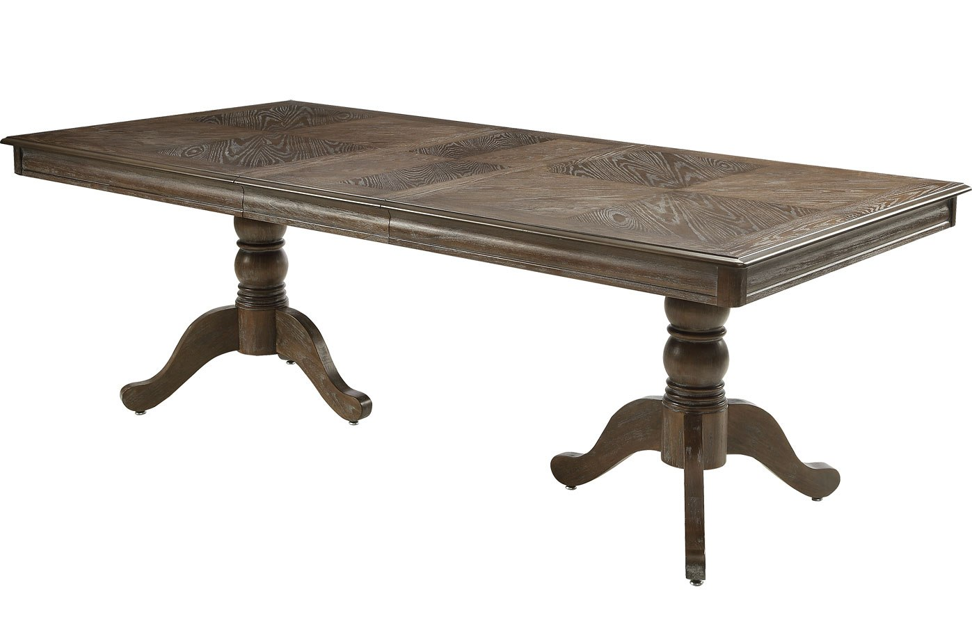 Merlot Double Pedestal Dining Table Grey Crown Mark