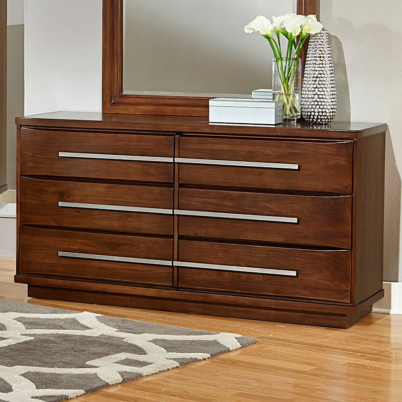 Cityscape upholstered panel bedroom set cherry vaughan bassett furniture cart for Cityscape bedroom furniture collection