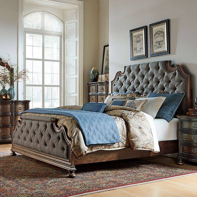 Tuscan Bedroom Furniture: Tuscan Valley Upholstered Bedroom Set Liberty Furniture