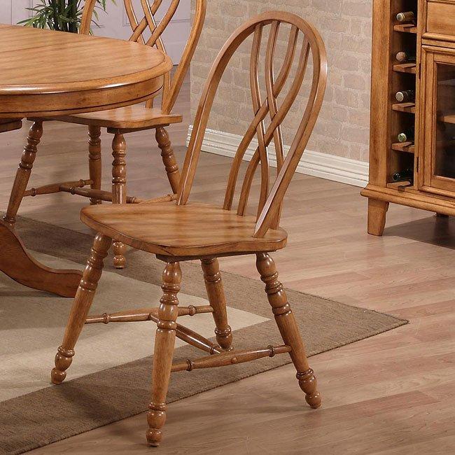 Oak Dining Room Furniture Sets: Missouri Round Dining Room Set (Rustic Oak) ECI Furniture