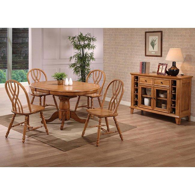 Missouri Round Dining Table Black Rustic Oak Eci: Missouri Round Dining Room Set (Rustic Oak) ECI Furniture