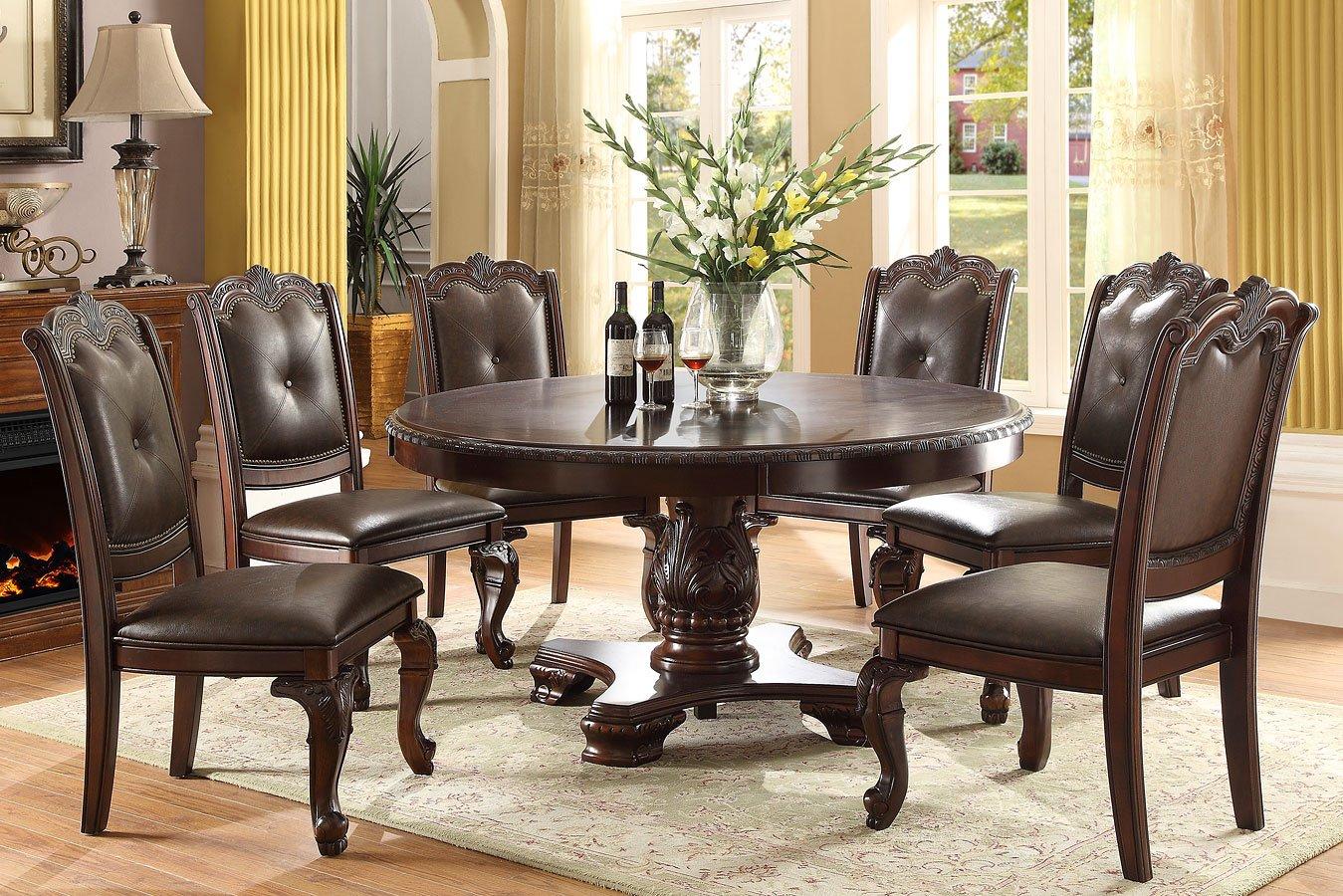 Kiera Round Dining Room Set Crown Mark Furniture
