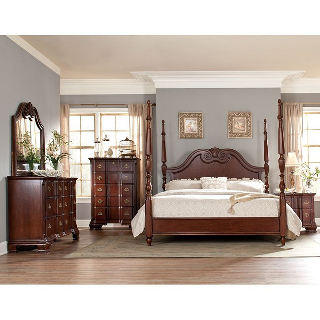 Guilford Bedroom Set W Tall Poster Bed