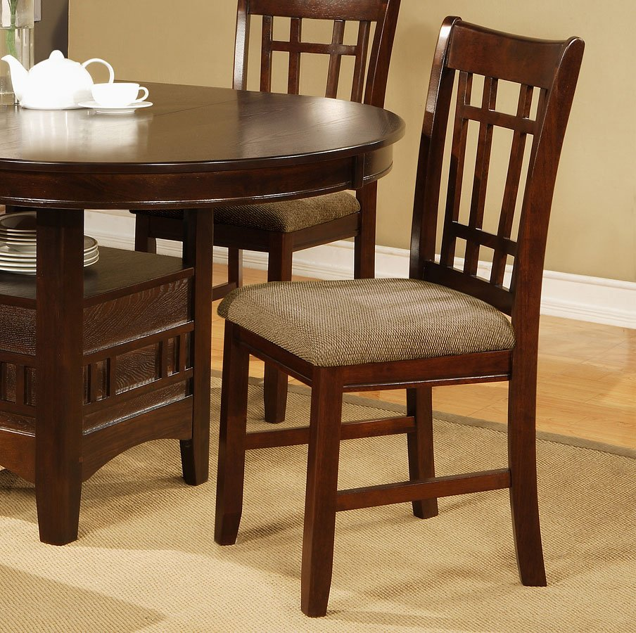 Empire Side Chair Espresso Set Of 2 By Crown Mark Furniture