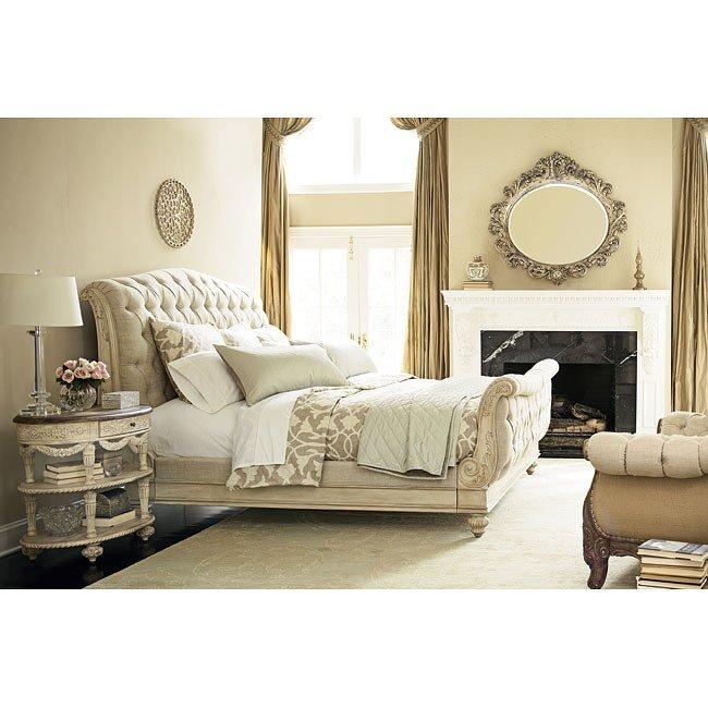 Bon Jessica McClintock The Boutique Sleigh Bedroom Set (White Veil)
