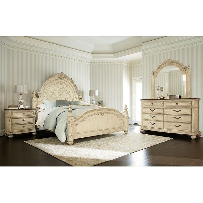 Jessica McClintock The Boutique Poster Bedroom Set (White