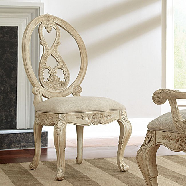 Superbe Jessica McClintock The Boutique Side Chair (White Veil) (Set Of 2) American  Drew | Furniture Cart