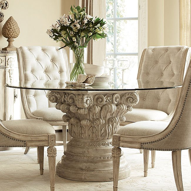 Dining Room Furniture Michigan: Jessica McClintock The Boutique Round Dining Set W/ Cane
