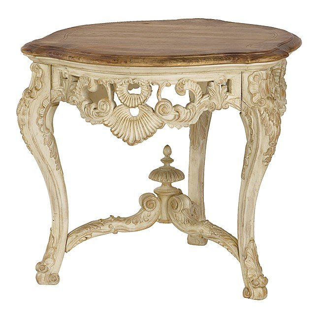 Jessica McClintock The Boutique Carved End Table (White Veil)
