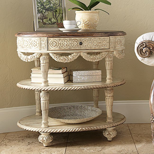 Jessica Mcclintock The Boutique Oval Accent Table White