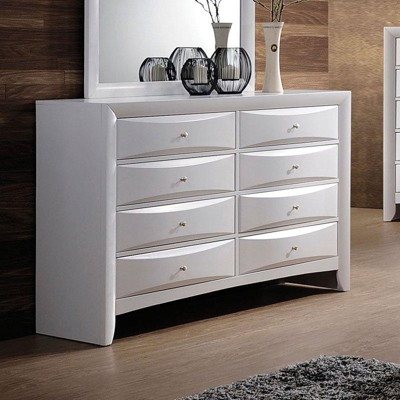 Ireland Bookcase Bedroom Set (White) Acme Furniture