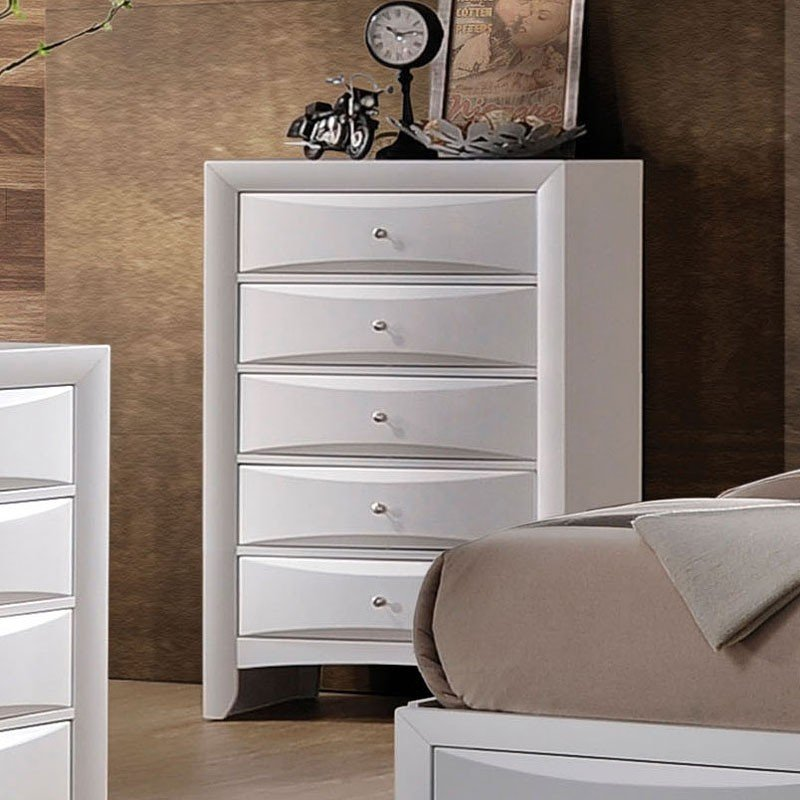 Ireland Bookcase Bedroom Set White Acme Furniture