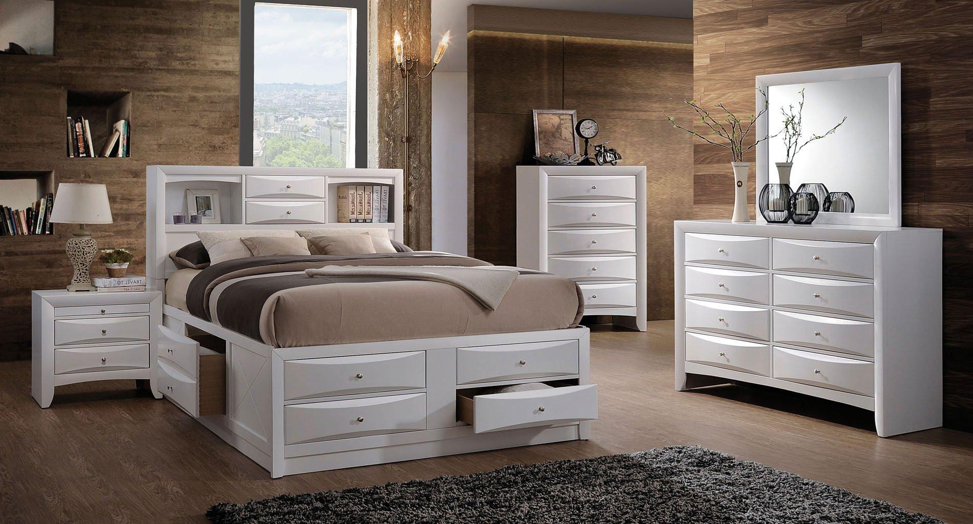 Ireland Youth Bookcase Bedroom Set (White)