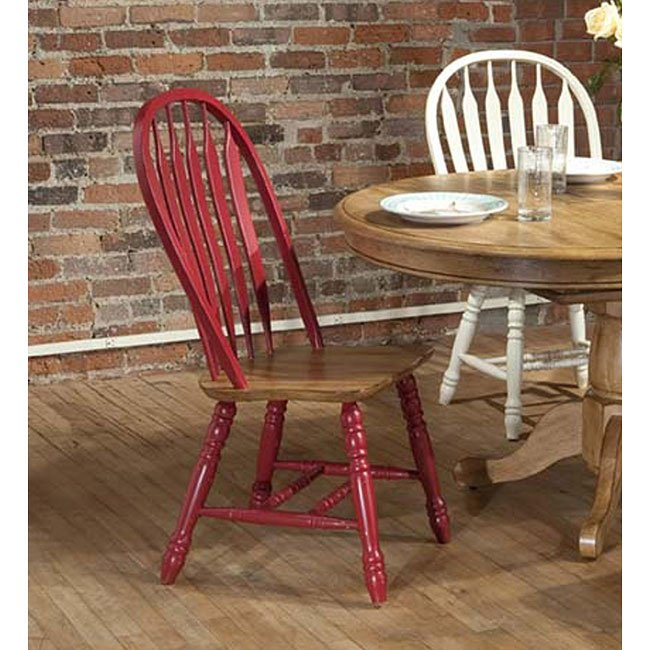 Missouri Round Dining Table Black Rustic Oak Eci: Missouri Side Chair (Set Of 2) (Red/ Rustic Oak) ECI