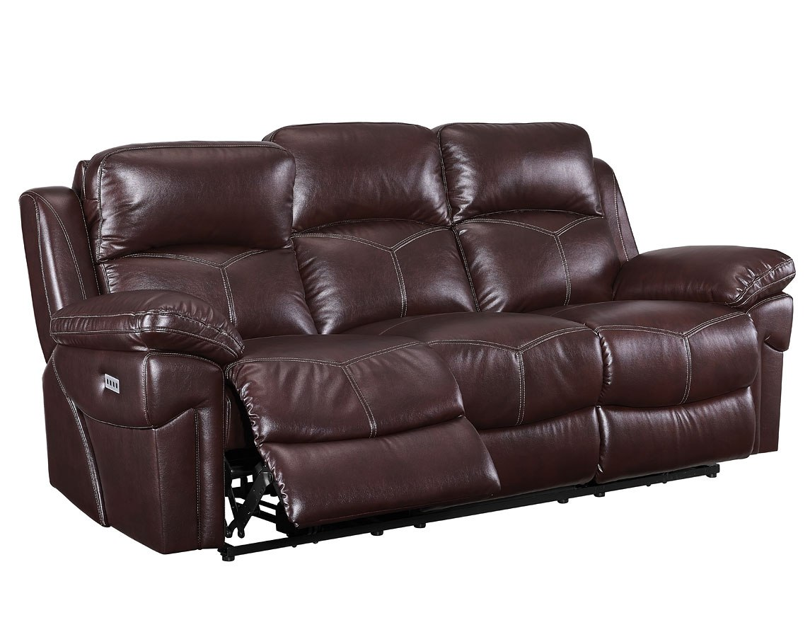 Warner Power Reclining Sofa W/ Power Headrest By New Classic Furniture
