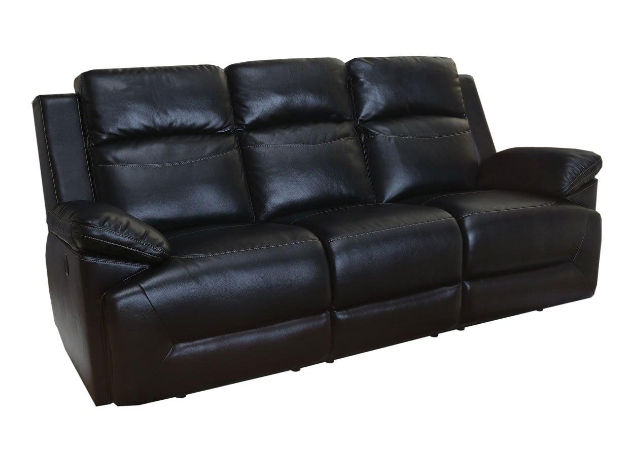 Cortez Power Reclining Sofa Black New Classic Furniture