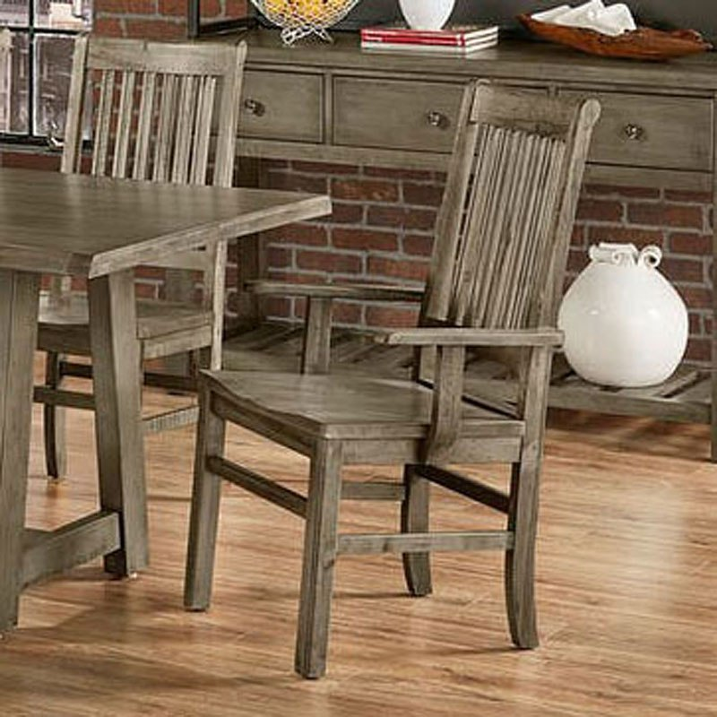 Simply Dining Roll Top Arm Chair Grey Set Of 2 Vaughan Bassett