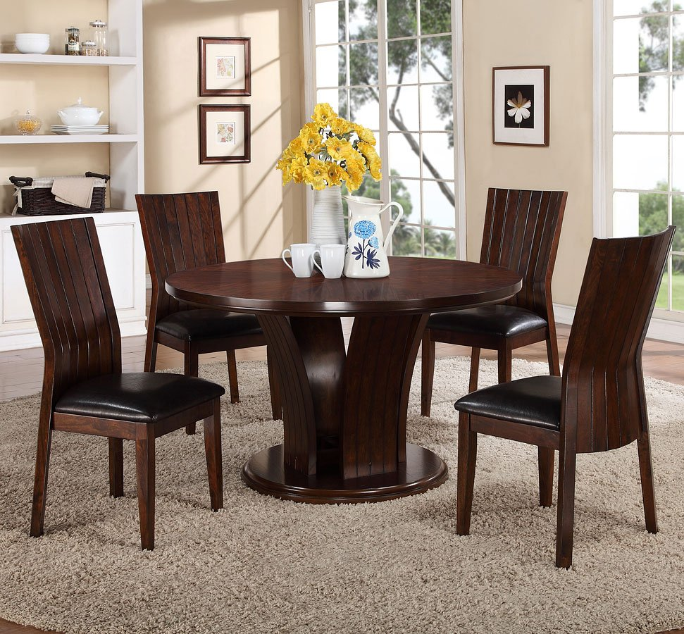 Daria Dining Room Set W/ Espresso Chairs Crown Mark