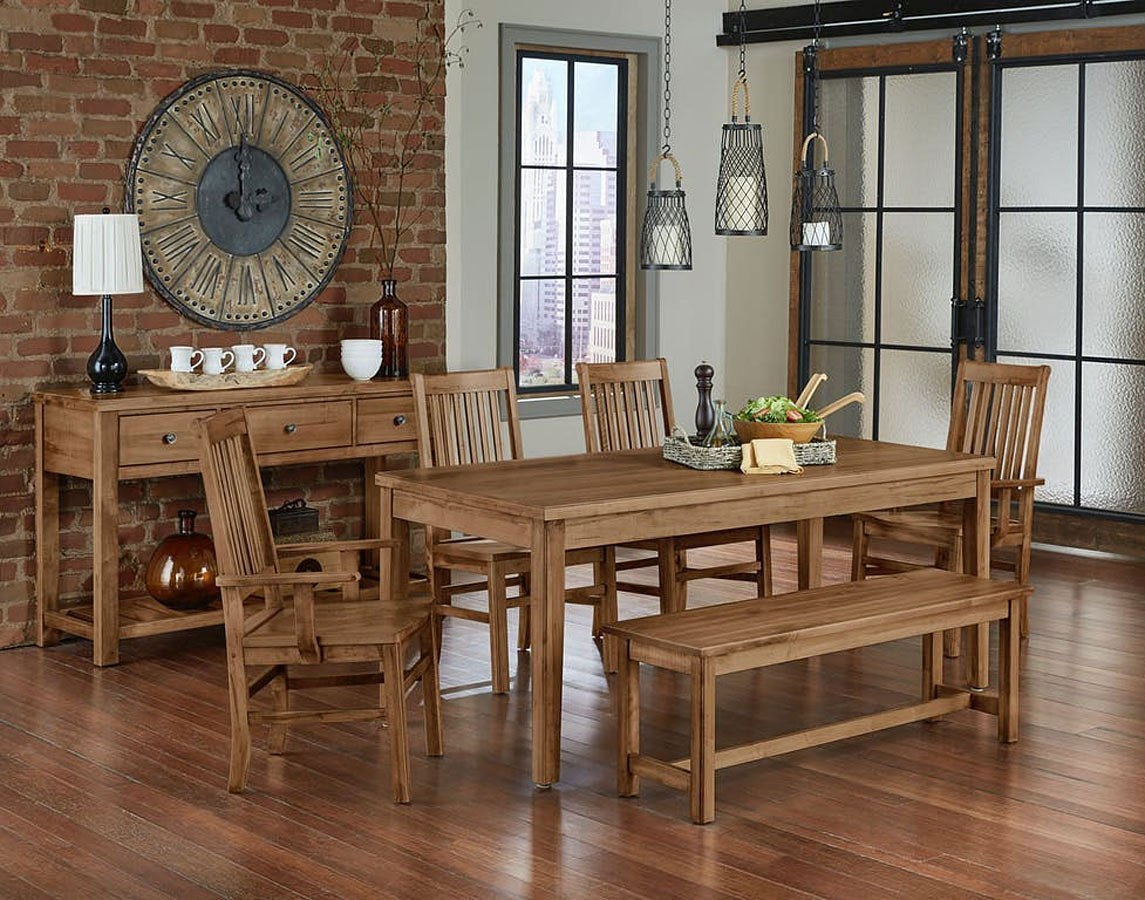 Simply Dining Kitchen Table Set W/ Roll Top Chairs ...