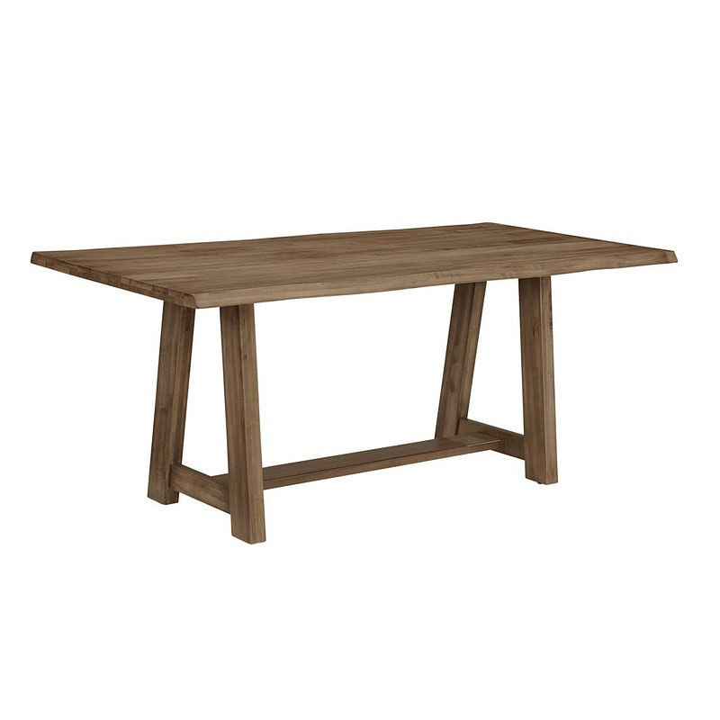 Simply Dining Inch Trestle Dining Table Natural Maple Vaughan - 72 trestle dining table
