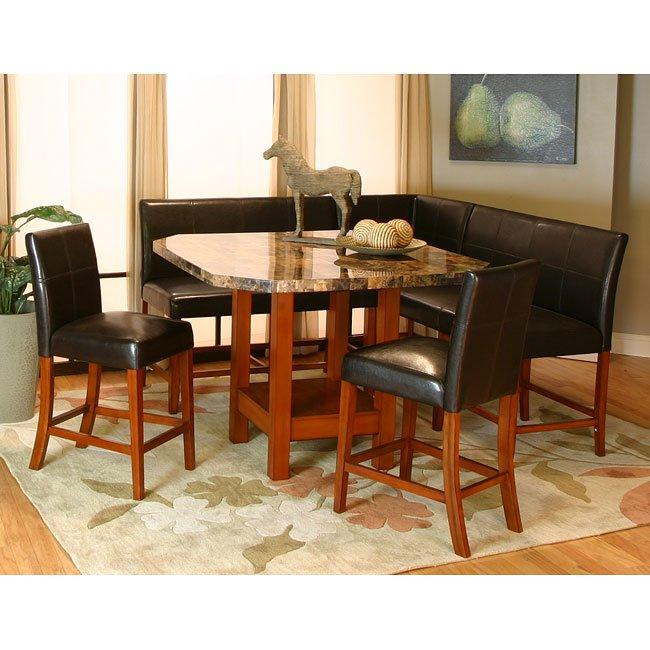 Kitchen Nook Measurements: Mayfair Counter Height Corner Dining Nook Set Cramco