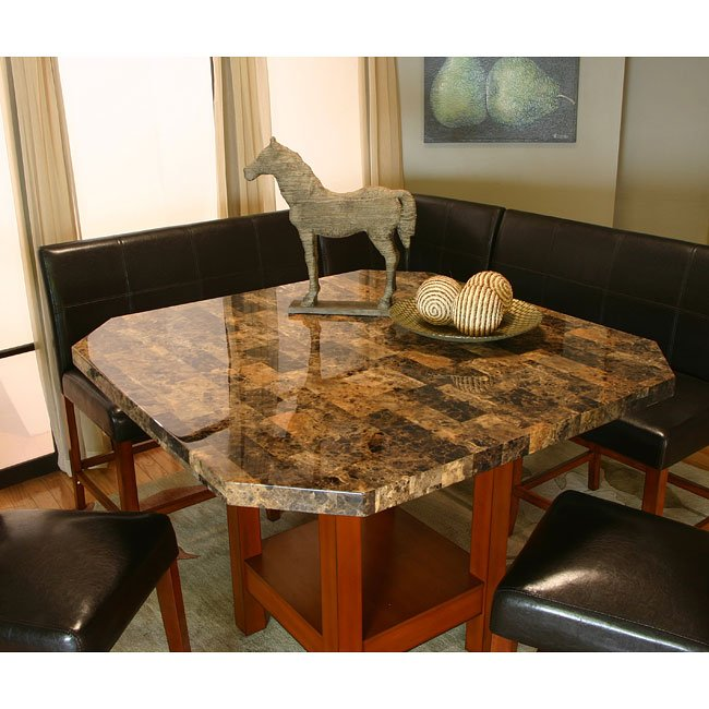 Mayfair Counter Height Corner Dining Nook Set Cramco