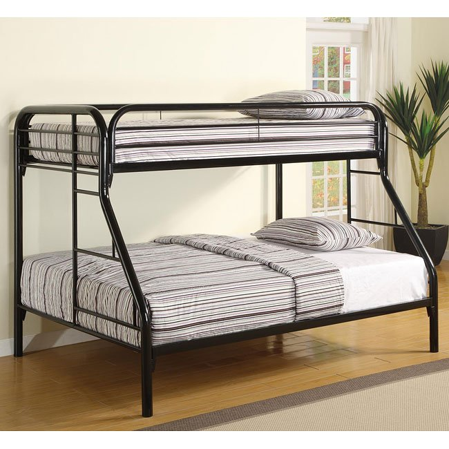 Fordham Black Twin over Full Bunk Bed