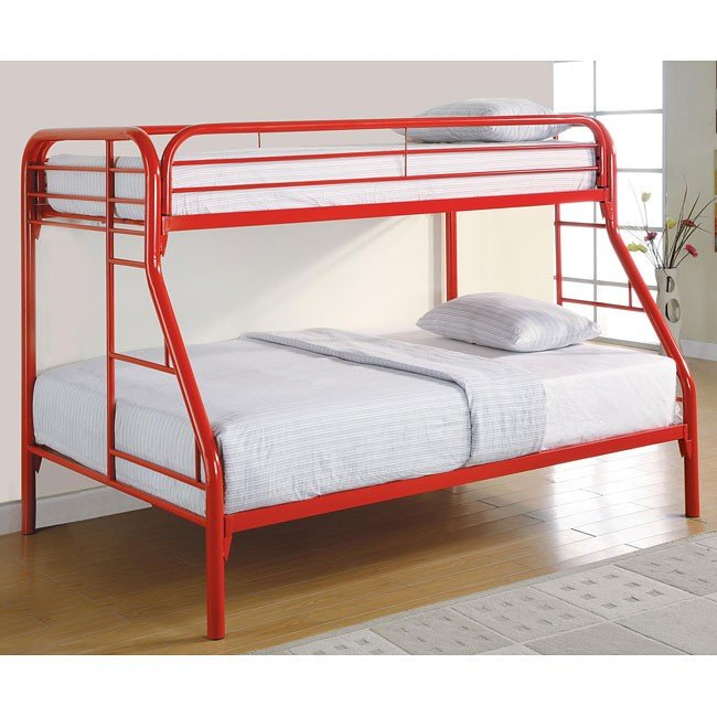 Fordham Red Twin over Full Bunk Bed