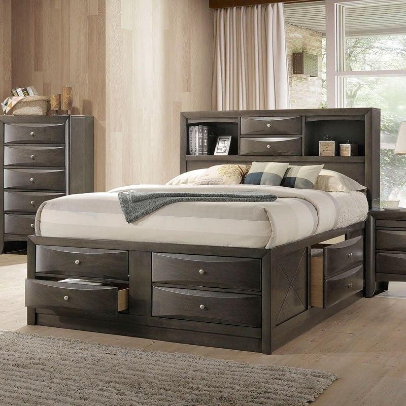 Ireland Youth Full Bookcase Bedroom Set Gray Oak Acme