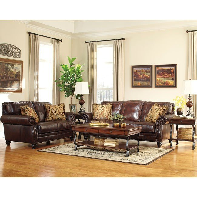 Graydon Park Dark Saddle Living Room Set