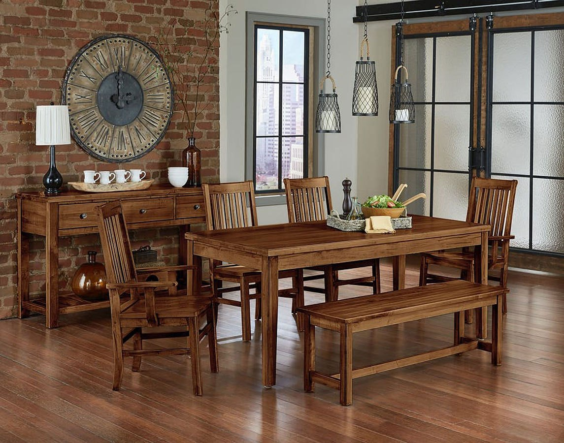 Simply Dining Kitchen Table Set Antique Amish Vaughan