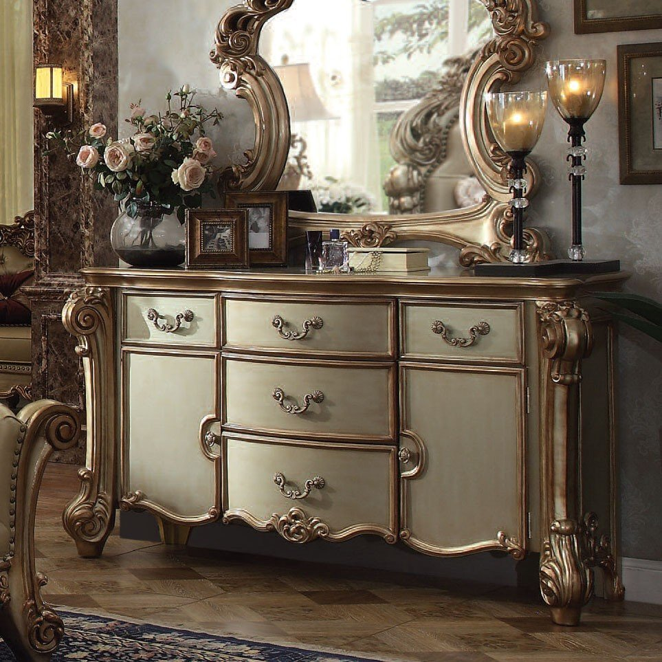 Vendome Dresser (Gold Patina) Acme Furniture