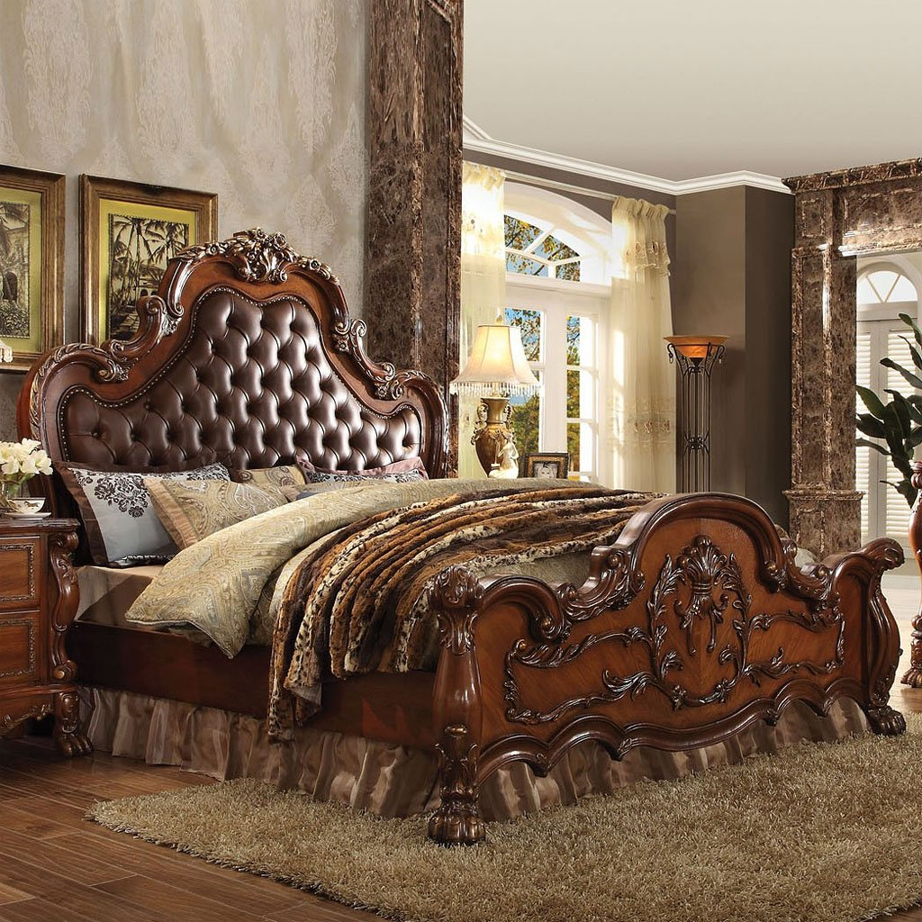 Dresden Tufted Panel Bed Acme Furniture Furniture Cart