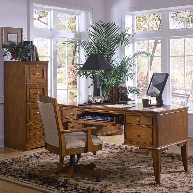Charmant Grandview Home Office Set With Leg Desk
