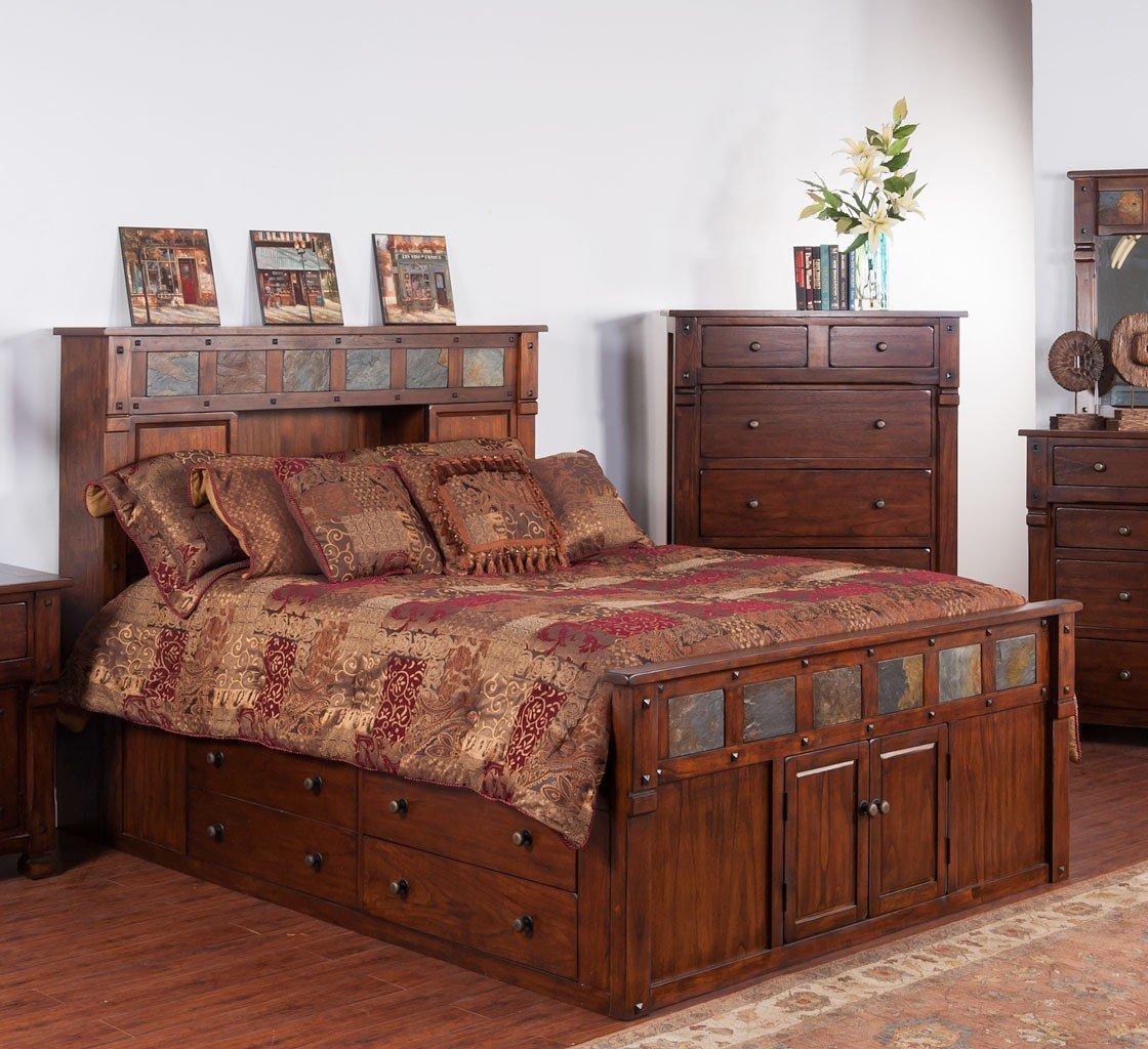 Santa Fe Bookcase Bedroom Set Sunny Designs | Furniture Cart