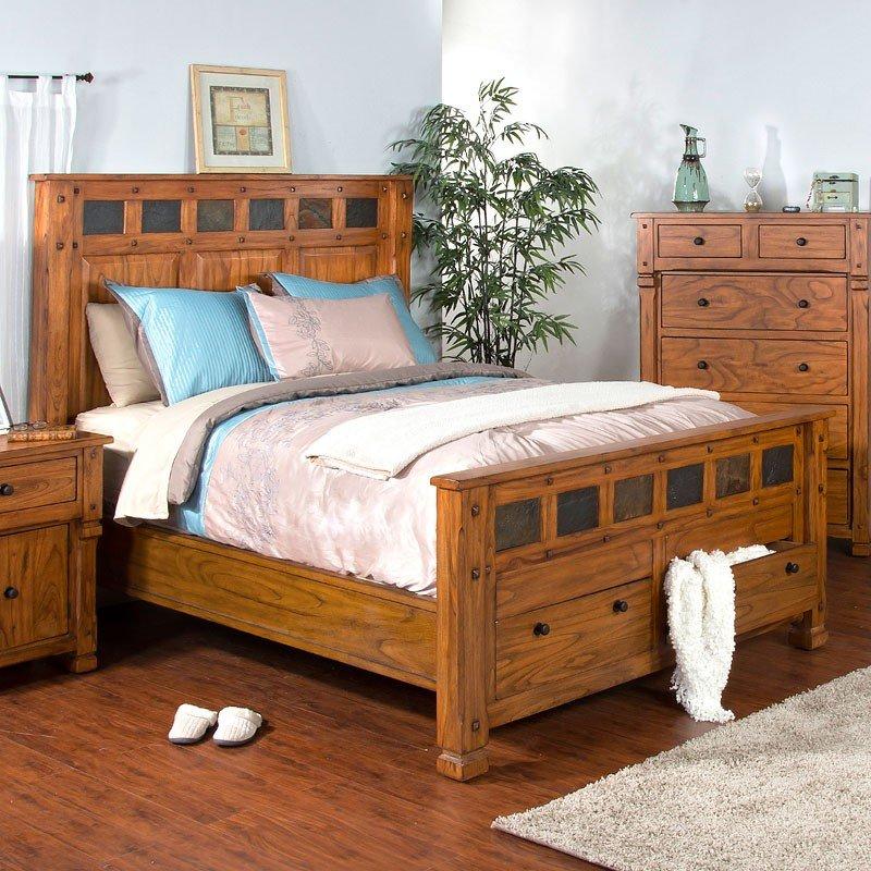 Sedona storage bed sunny designs furniture cart for Sunny designs bedroom furniture