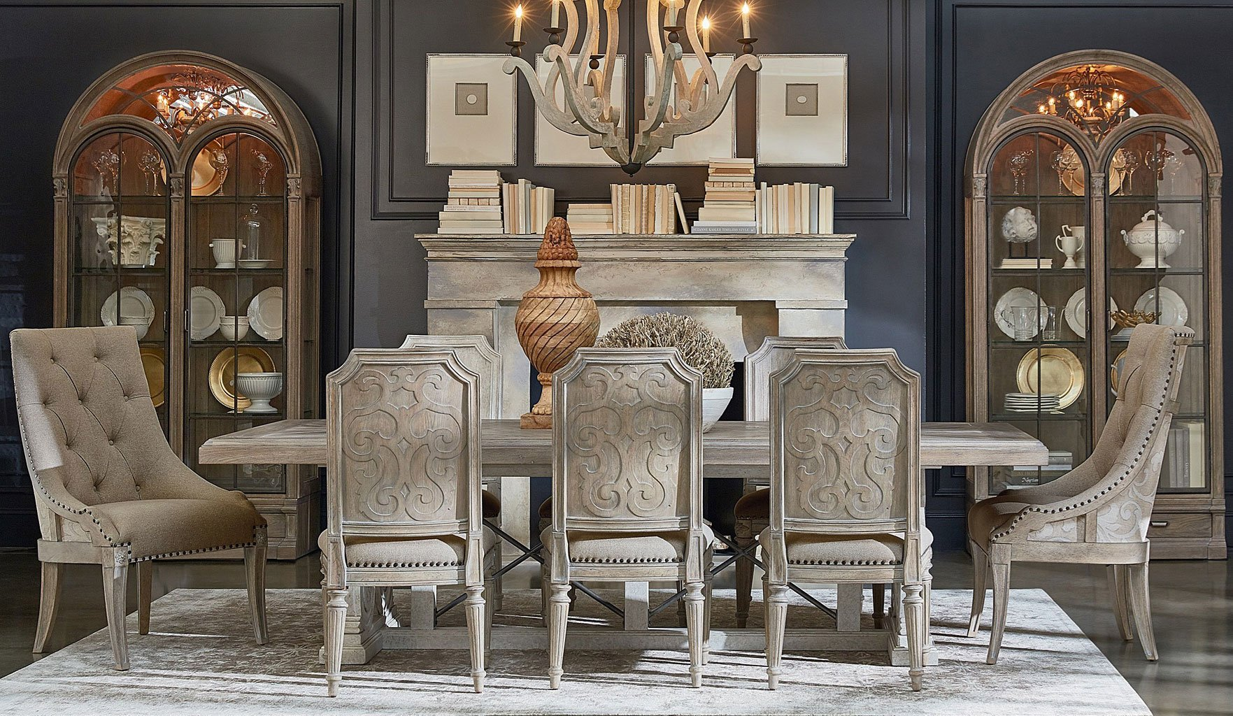 Arch Salvage Pearce Dining Room Set (Parch/Cirrus) w/ Choices